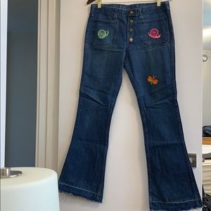 Vintage Lee Sanforized ButtonFly Bell Bottom Jeans